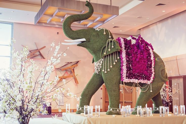 Elephant Topiary at Reception Entrance | Photo: Studio AvantGarda.
