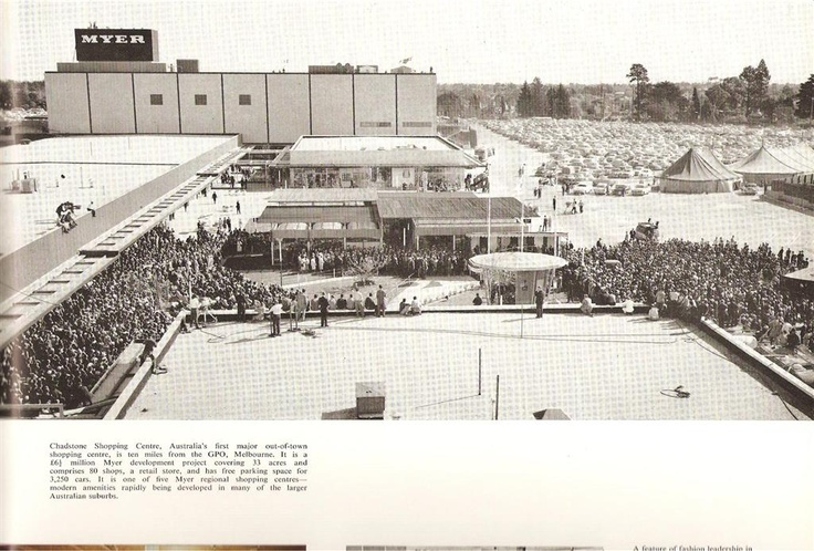 The opening of Chadstone Shopping Centre, 1960