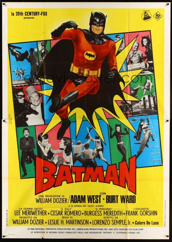 Batman 1966 movie poster Old Movie Posters Pinterest