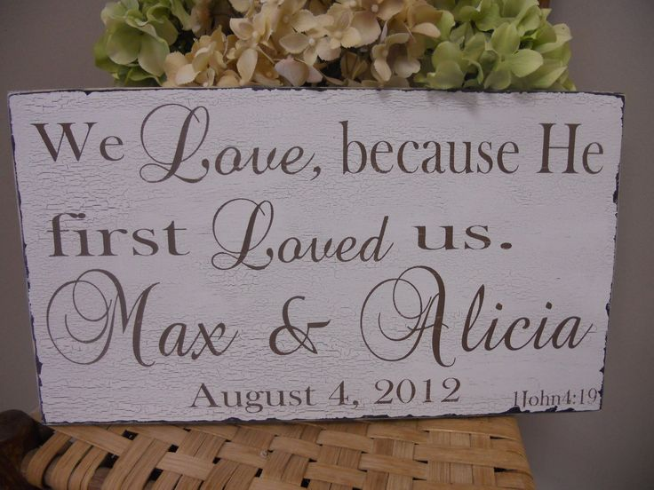 Distressed Religious Personalized Wedding/Family sign with Bible Verse.... $42.95, via Etsy.