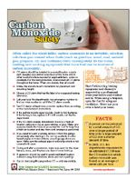 Safety tips to keep in mind... NFPA - Carbon Monoxide safety tips - http://www.nfpa.org/safety-information/for-consumers/fire-and-safety-equipment/carbon-monoxide/carbon-monoxide-safety-tips