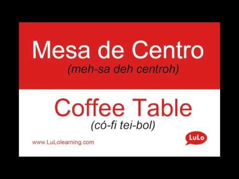 Mesa de Centro en Inglés = Coffee Table in Spanish