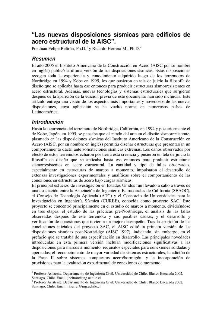 Tipos de Marcos Resistentes OMF, IMF, SMF - Documents