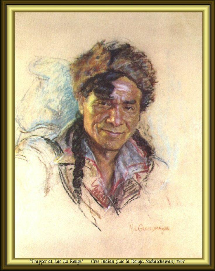 Trapper at Lac La Ronge - Cree Indian (Lac la Ronge, Saskatchewan) 1957 by Nicholas de Grandmaison.