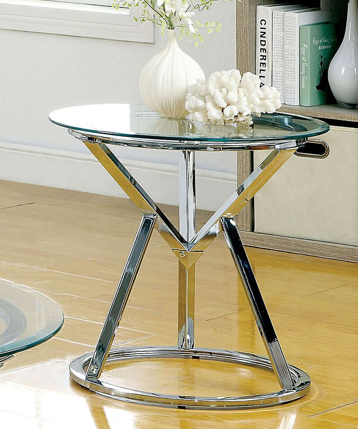 Seler Glass-Top End Table