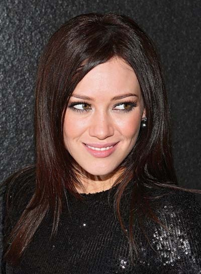 Hilary duff brown hair beauty pinterest - Hilary duff with dark hair ...