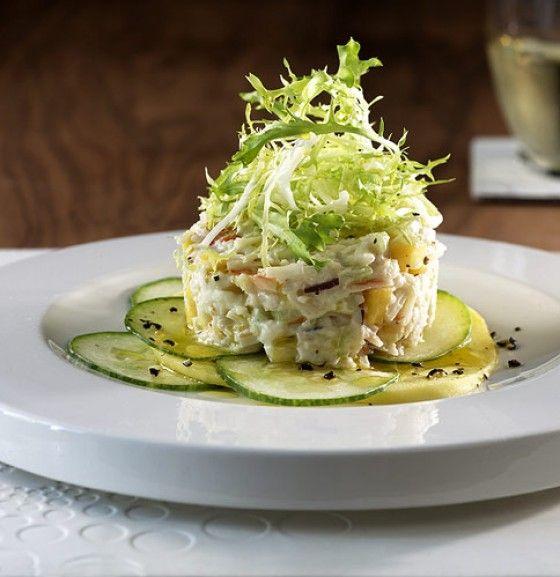 Eine köstliche und edle Vorspeise: Mango und Meerrettich geben dem Fischsalat den letzten Schliff.