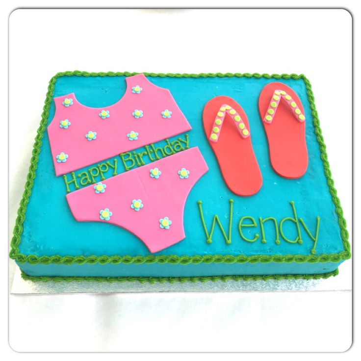 Pool party cake for girls