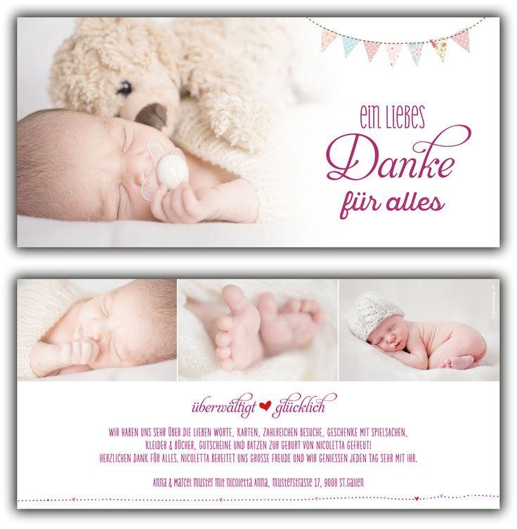 11 besten Karten zur geburt Bilder auf Pinterest   Baby dankeskarten ...