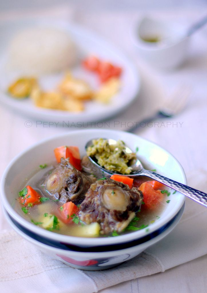 Oxtail soup, Indonesian style.