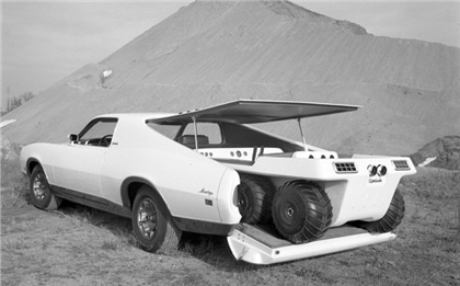 """""""Mercury Montego Sportshauler Concept Car, 1970-72 Mercury's Montego-based Sportshauler concept vehicle was a huge attraction during the 1971 Chicago Auto Show. The Montego Sportshauler was reconfigured to carried two-passengers and their all-terrain vehicles."""""""