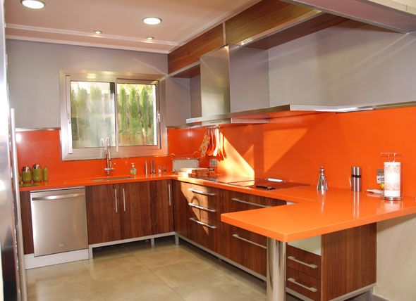 Orange corian from Mellini.com