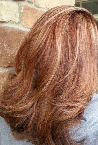 Auburn With Honey Highlights Google Search Red Blonde