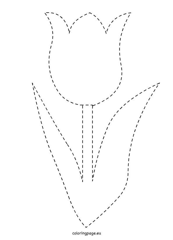 Traceable Tulip Template Jpg 595 215 822 Grafomotorika