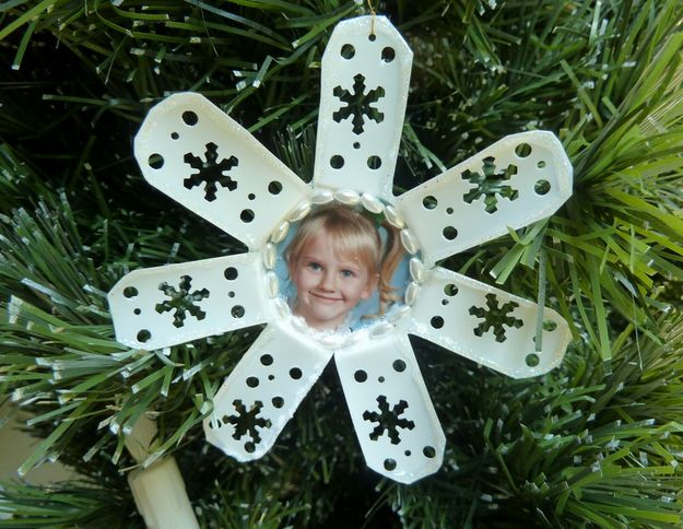 Or a unique little snowflake ornament. | 33 Genius Ways To Reuse Your K-Cups