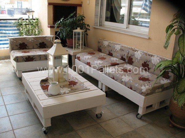 Terrace lounge  #Lounge, #Pallets, #Sofa