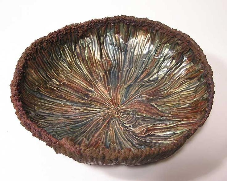 June Schwarcz enamel on copper bowl
