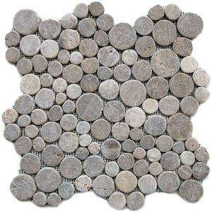 Sunset Moon Mosaic Tile - Strata stones  shower floor