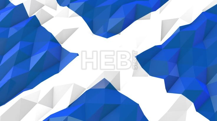Flag of Scotland 3D Wallpaper Animation