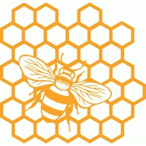 Silhouette Design Store - View Design #87406: honeycomb bee