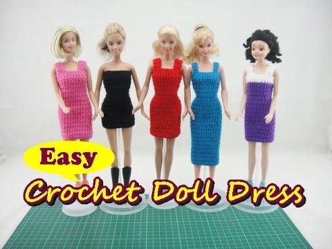Barbie Doll Cake Topper Crochet Dress