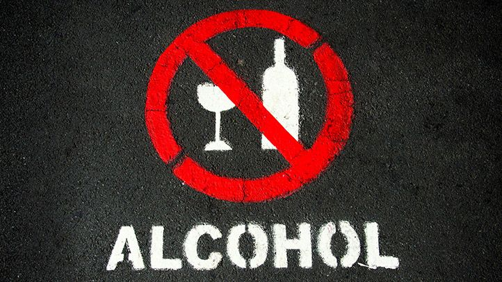 No-alcohol zone for January