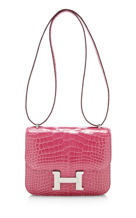 Hermes 18Cm Rose Tyrien Alligator Constance by Heritage Auctions Special Collections - Moda Operandi