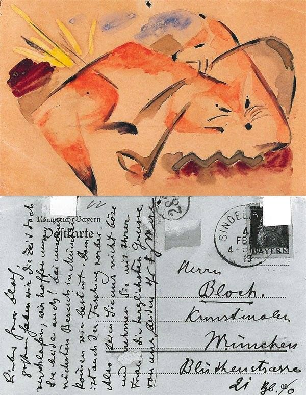Two Foxes – to Albert Bloch in Munich, 4 February 1913