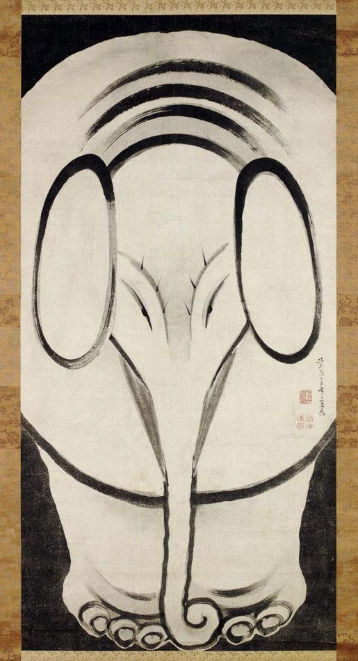 伊藤若冲(Ito Jakuchu)「象図」