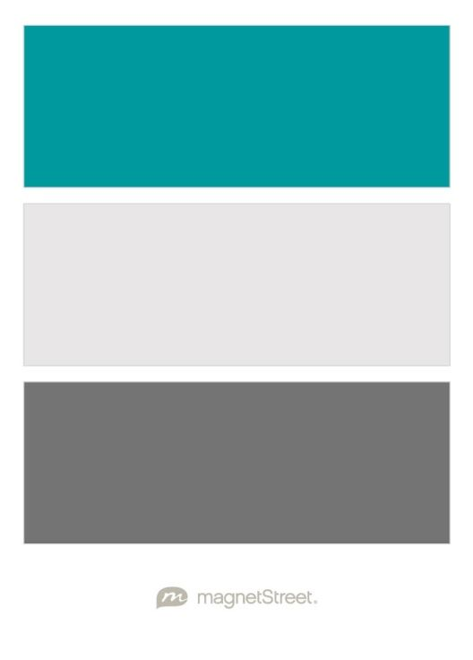 Teal, Winter White, and Charcoal Wedding Color Palette - custom color palette created at MagnetStreet.com