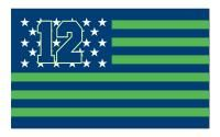 Seattle Seahawks Stars & Stripes 3'x 5' NFL Flag Show your American pride as well as your team spirit with this great flag. #Seahawks #America #Spirit #Team