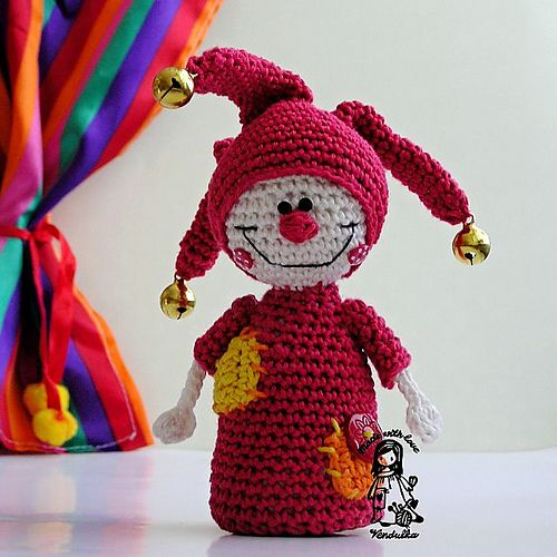 Ravelry: Jester pattern by Vendula Maderska: Libraries, Crochet Amigurumi Butterflies, Crafts Ideas, Crochet Toys, So Cute, Jester Patterns, Crochet Amigurumi, Crochet Patterns, Projects Galleries