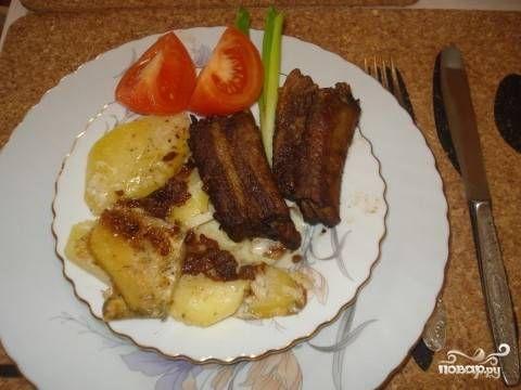 Запеченные свиные ребрышки в духовке - пошаговый рецепт с фото на Повар.ру