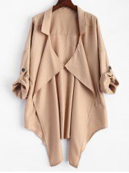 SHARE & Get it FREE | Drape Front Rolled Sleeve Plus Size Trench CoatFor Fashion Lovers only:80,000+ Items • New Arrivals Daily • Affordable Casual to Chic for Every Occasion Join Sammydress: Get YOUR $50 NOW!