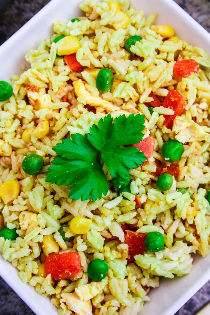 Yellow Thai Curry Coconut Fried Rice - Amuse Your Bouche