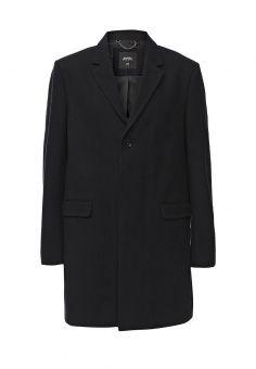 Пальто Burton Menswear London, цвет: черный. Артикул: BU014EMKQD41. Мужская одежда / Верхняя одежда / Пальто