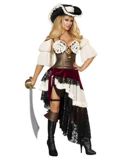Sexy Deluxe Pirateer Costume | Sexy Pirate Halloween Costumes