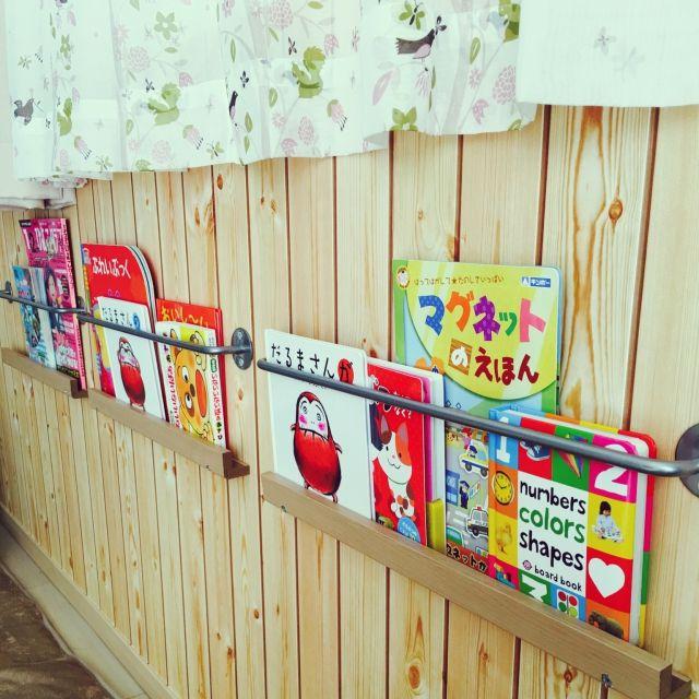 yuu119さんの、カフェ風,DIY,ナチュラル,IKEA,絵本棚,絵本コーナー,壁面収納,コーナンPRO,ベビーコーナー,リビング,のお部屋写真