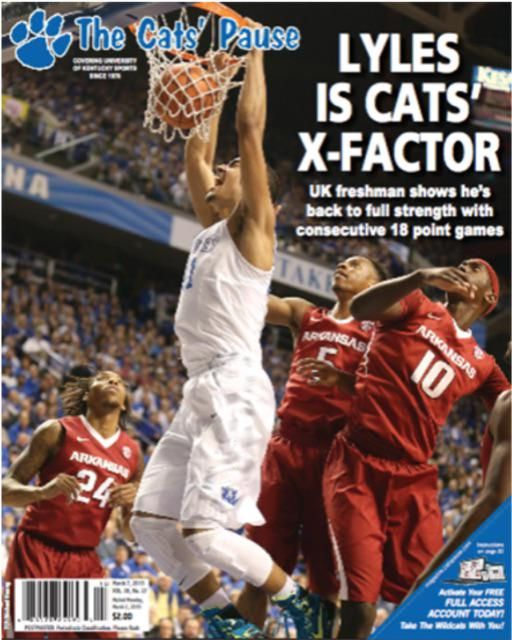 SEC Freshman of the Week and UK's 'x-factor' Trey Lyles on this week's cover of The Cats' Pause. #BBN