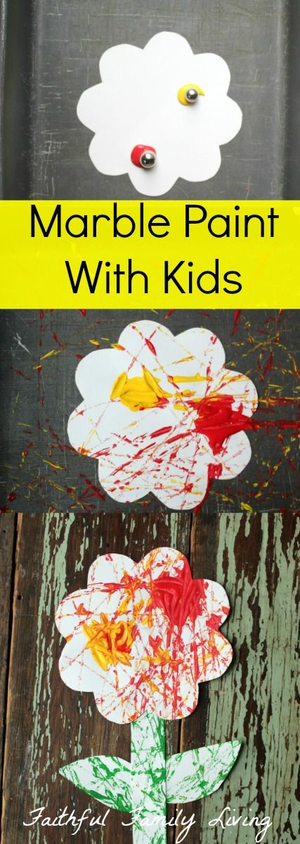 Painting With Kids: Marble Paint Making an easy kids craft project with marbles and paint. Simple and not messy!