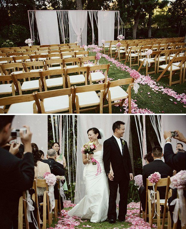 backyard wedding ceremony decoration ideas%0A with different set up at altar like the flowers going down the sides  Find  this Pin and more on Backyard Wedding Ideas