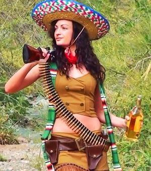Женский мексиканский костюм напрокат