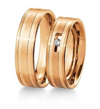 Breuning Trouwringen | Inspiration collectie gouden ringen | 6mm briljant 0.05ct verkrijgbaar in 8,14 en 18 karaat | 48041450 / 48041460 OOK in wit geel en rood goud verkrijgbaar of in 2 kleuren goud #trouwringen #breuning