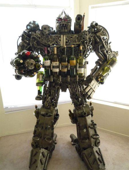 A robot wine rack...
