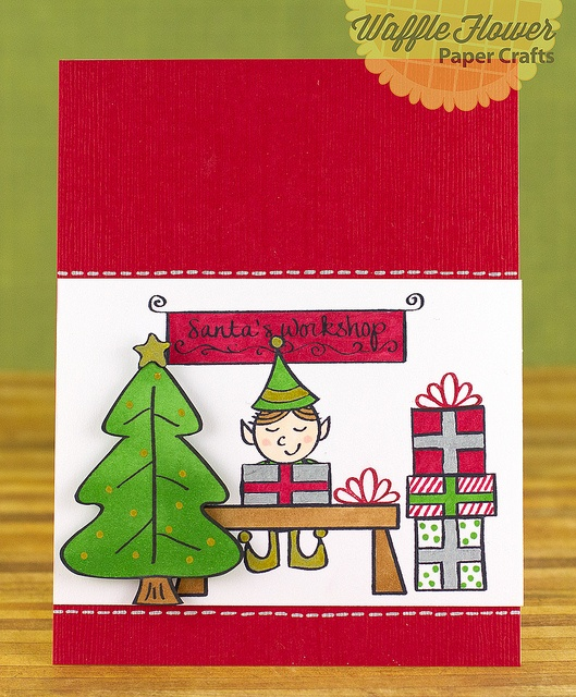 Santa's Workshop Card by Nina (waffleflower.com), via Flickr for neat and tangled
