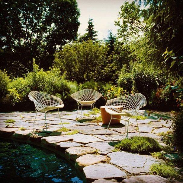 Bertoia Diamond Chair Outdoor Version Knoll Outdoor