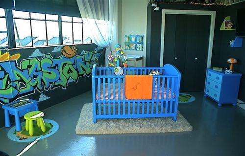 If we have a baby boy, I definitely want a Graffiti Nursery! No joke... Jeremy is totally down.