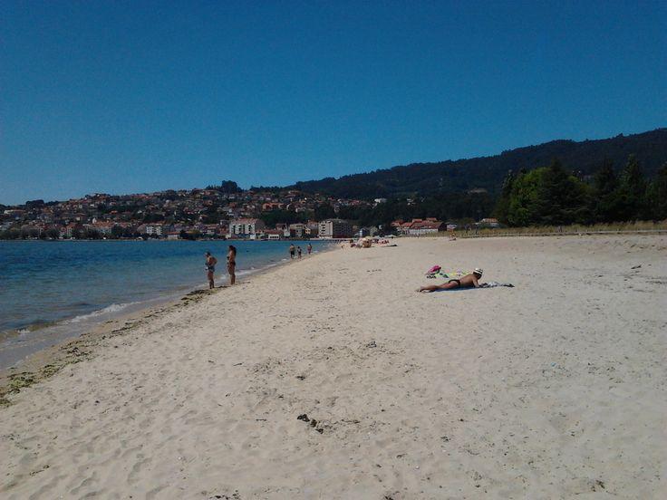 Imagen de la Playa de A Xunqueira, en Moaña, enviada por nuestra amiga Noemí Oliveira.
