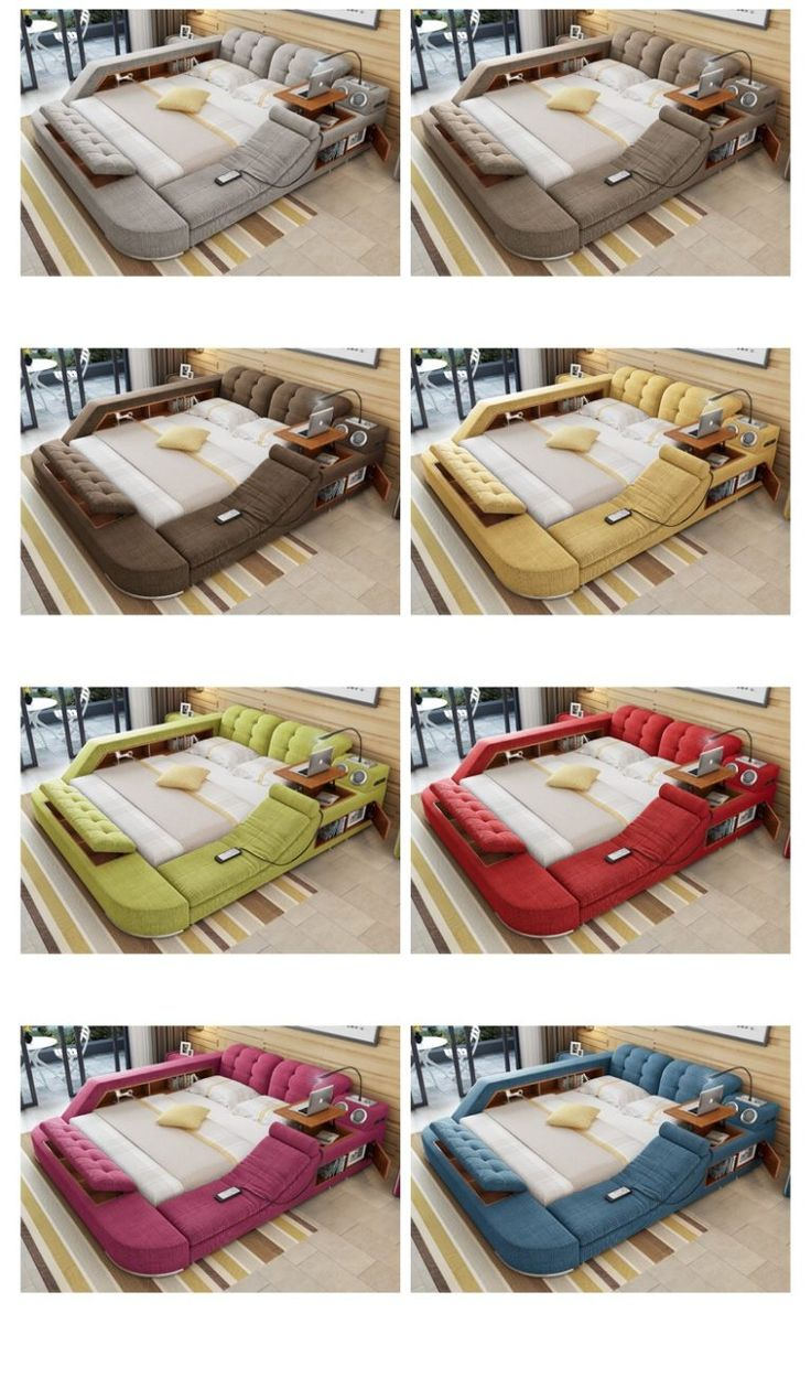 Safe Room Design: Modern Multipurpose Bed + Electric Massage + Bluetooth