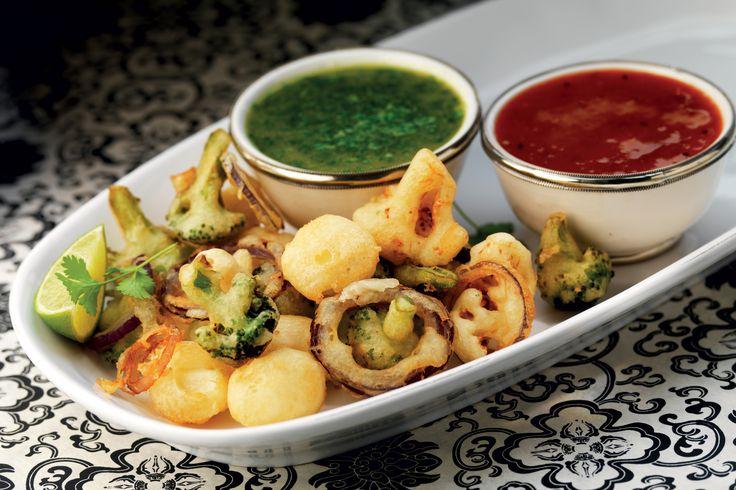 Friterade grönsaker med två dippsåser | Recept från Santa Maria